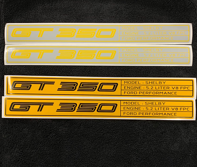 OG GT350 FLAT Door Sill Overlays 2015 - 2017