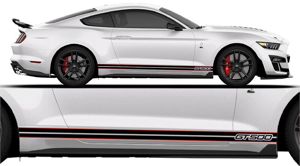GT500 OEM Style Side Stripe with FENDER GT500