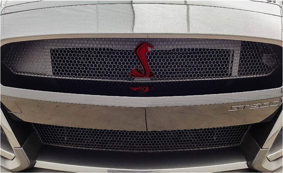 Printed GT500 Grille and Trunk Emblem Overlays