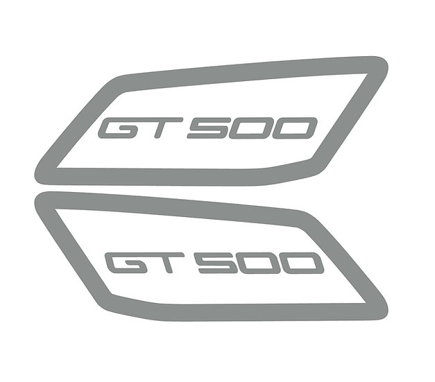 2020 GT500 Carbon Wing Endplates Decals