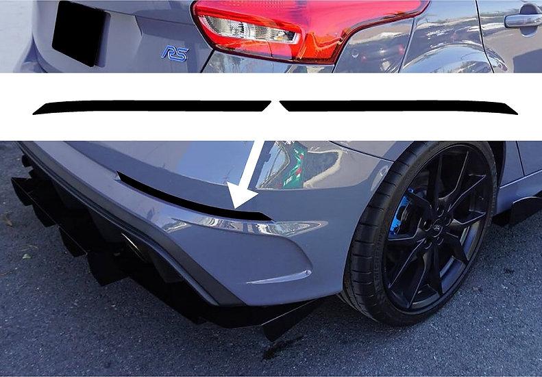 Focus RS Rear Bumper Reflector Overlays