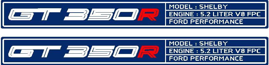 OG GT350R FLAT Door Sill Overlays 2015 - 2017