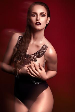 Photo: Laura Viktualia Retouch: Mareike Keicher Model: Kim Witkowski Hair & Makeup Artist: Paula Tsukino Hair & Makeup Assistants: Katrix Lestrange, Rebecca Schmitz Harness/Choker: Good Night Medusa | Lingerie