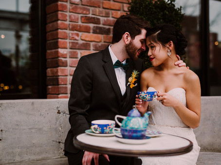 Williamsburg Hotel Industrial Glam Wedding featured in Catalyst Wed Co.