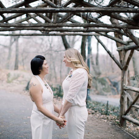 Carmen and Lindsay's Wagner Cove Palindrome Elopement