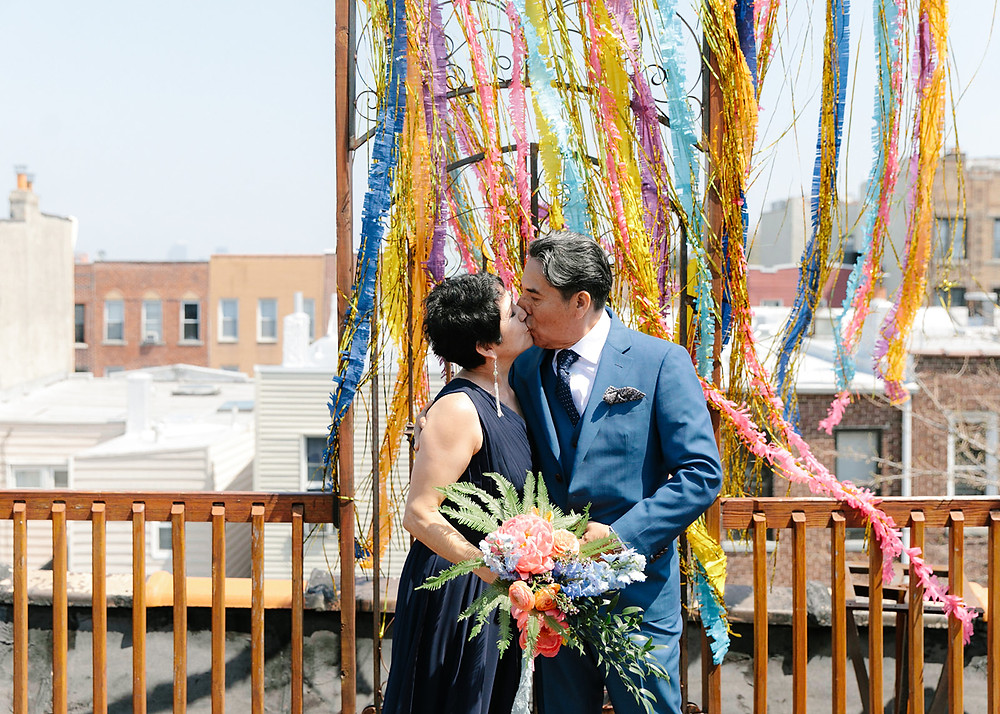 vow renewal nyc, brooklyn vow renewal, brookyn bilingual wedding officiants, spanish speaking wedding officiant, modern celebrant, brooklyn marriage celebrant, feminist weddings, once upon a vow, colorful brooklyn wedding, fun nyc weddings, modern weddings