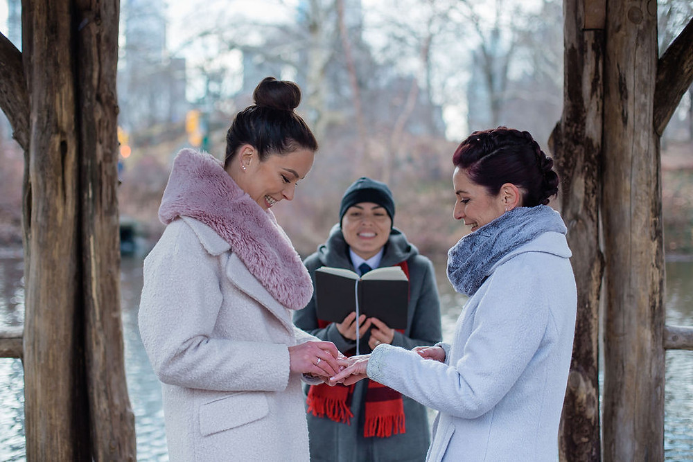 elope in central park with NYC's queer officiant proudly celebrating LGBTQIA love