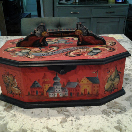 Wooden Jewelry Box - $45.00