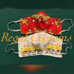 Wonder Woman and Crown Masks $15