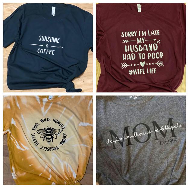 Custom T-shirts - $15 to $25