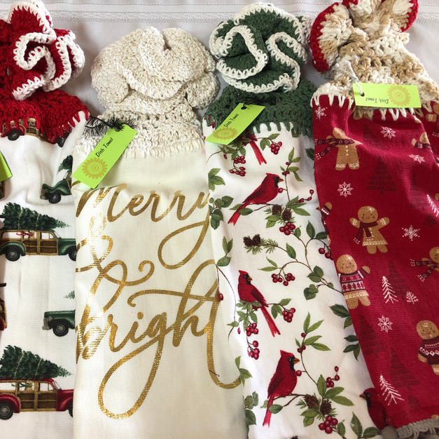 Christmas Hanging Towels - $6 each