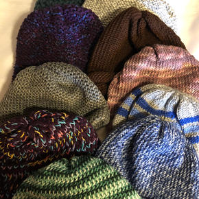 Adult and Messy Bun Beanies - $10 each
