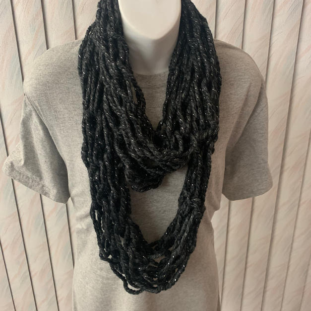 Black & Silver Arm Knit Infinity - $20