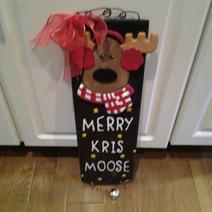 Merry KrisMoose Sign - $20.00