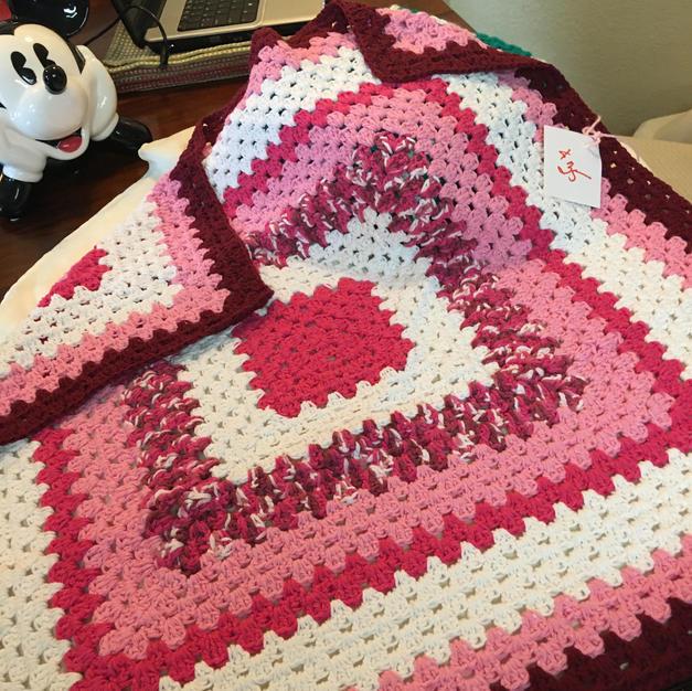 Rose Pink Stroller Throw - $35