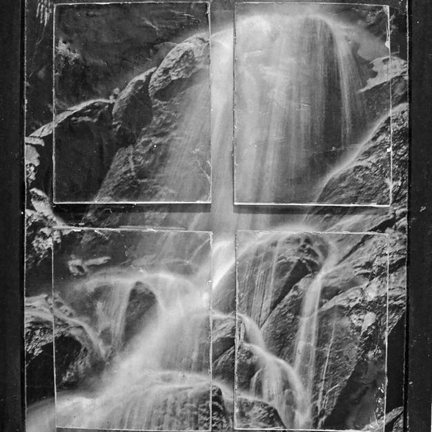 Black and White Waterfall - $15