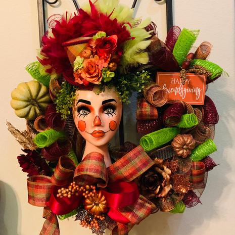 Thanksgiving Mannequin Wreath - $200