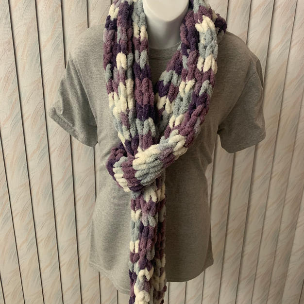 Purple & Grey Fuzzy - $25