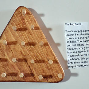 Handmade Peg Game - $12