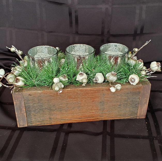 Silver Candles in Box - $22