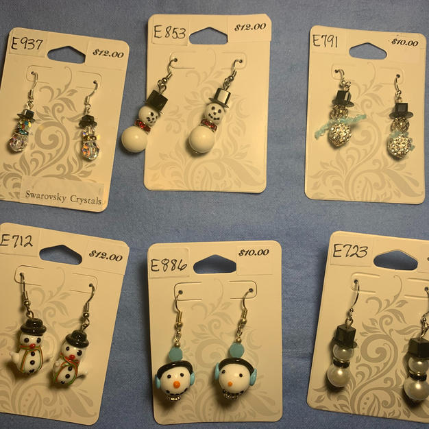 Snowman Earrings $10 - $12 each