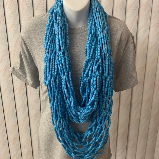 Blue Arm Knit Infinity - $20