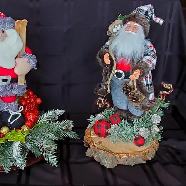 Santa Skii and Rustic Santa - $25 each