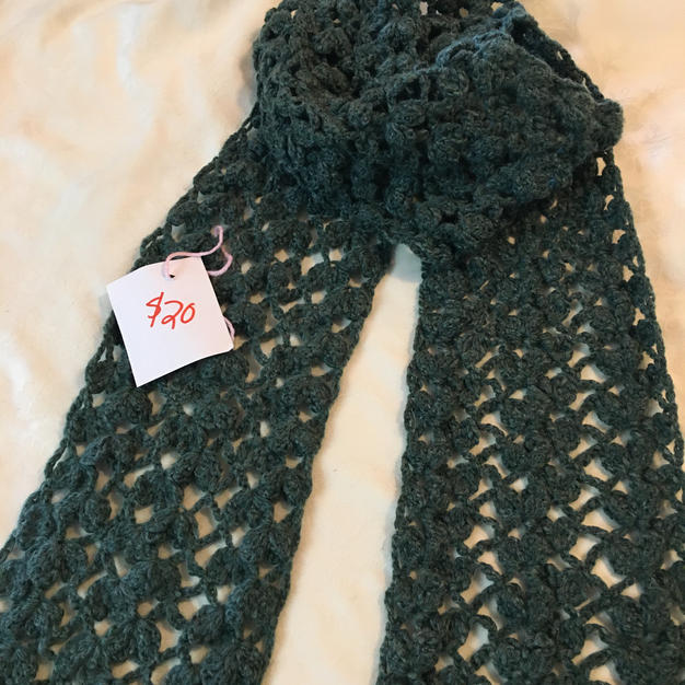 Lacy Leaves Scarf - $20