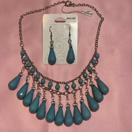 Turquoise Drop Set $27