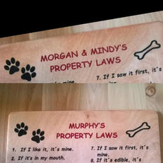 Personalized Property Rules - $40.00