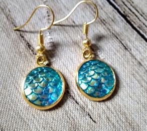 Blue Mermaid Earrings