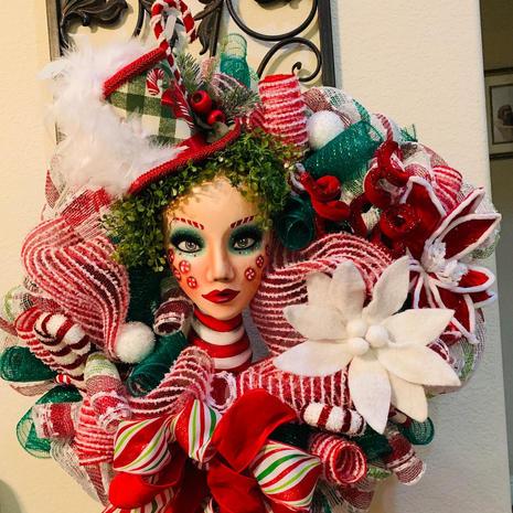 Christmas Mannequin Wreath - $200
