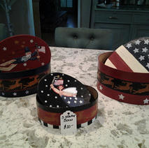 Nesting Wooden Boxes $20.00