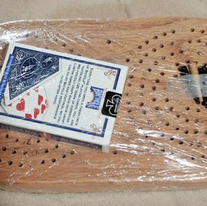 Handmade Cribbage Board - $20
