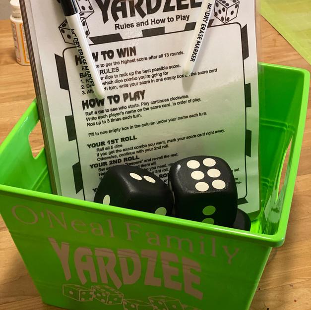 Yardzee Family Game - $15