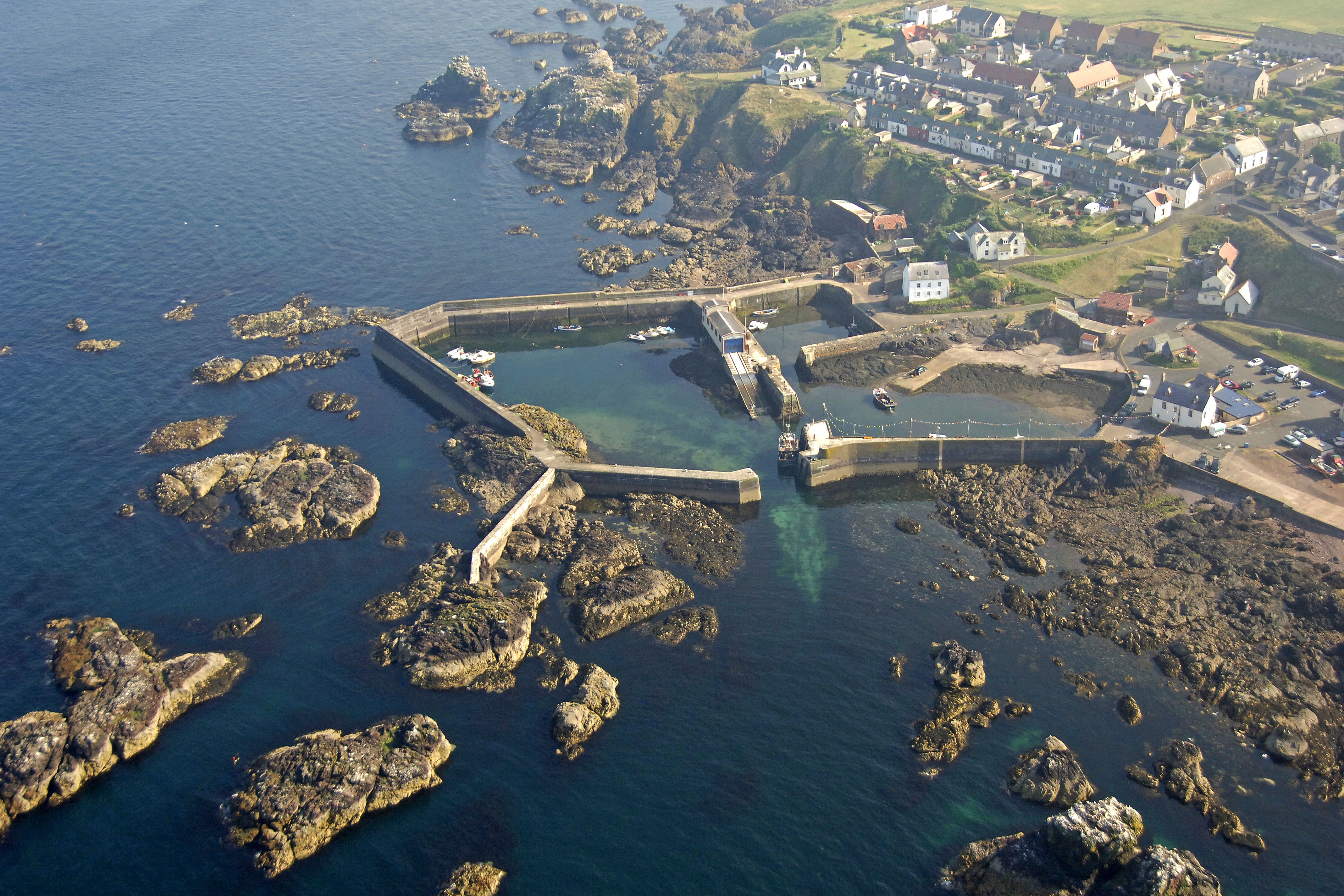 Aerial of St. Abbs Harbour