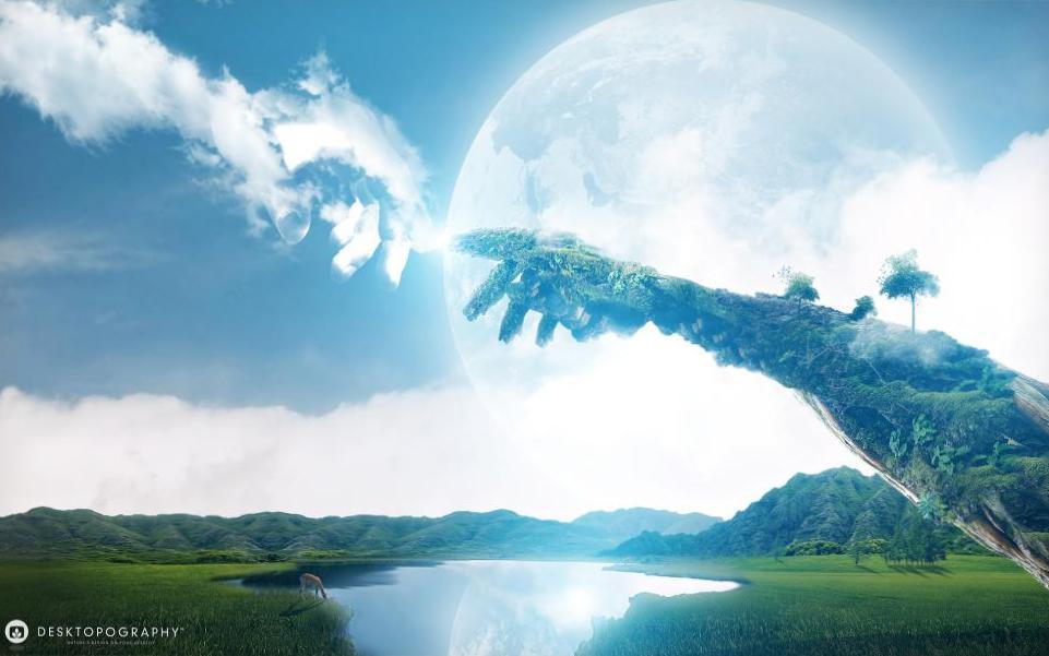 hands-wind-earth-lake-hd-1080P-wallpaper