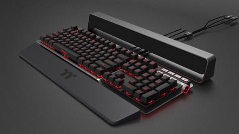 TK5 RGB gaming keyboard | Studio F. A. Porsche for Thermaltake