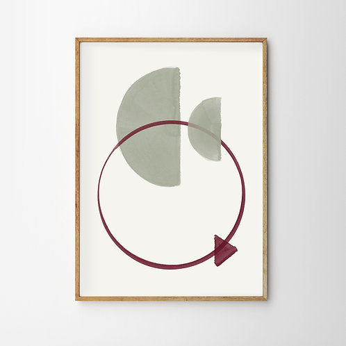 Artprint – Geometric Empty Moon