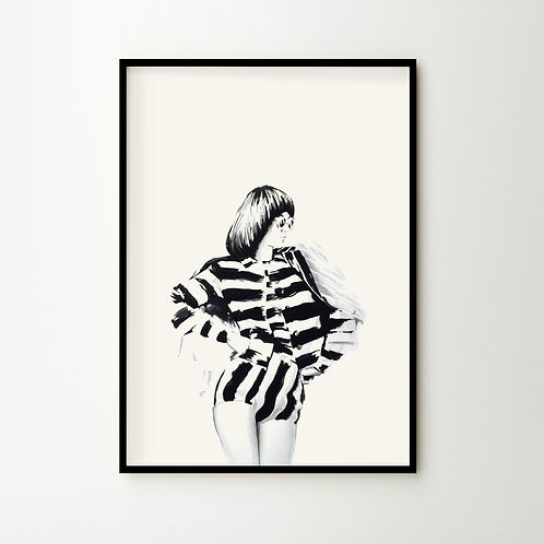 Artprint – Woman In Stripes