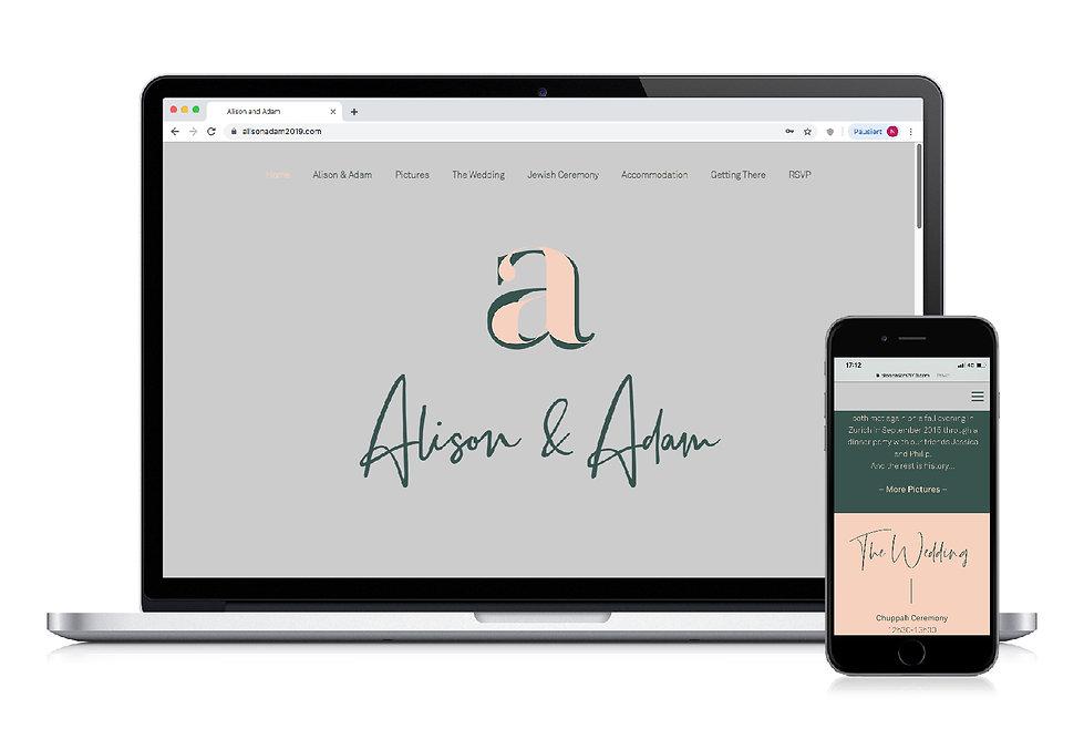 Wedding Invitation Webdesign