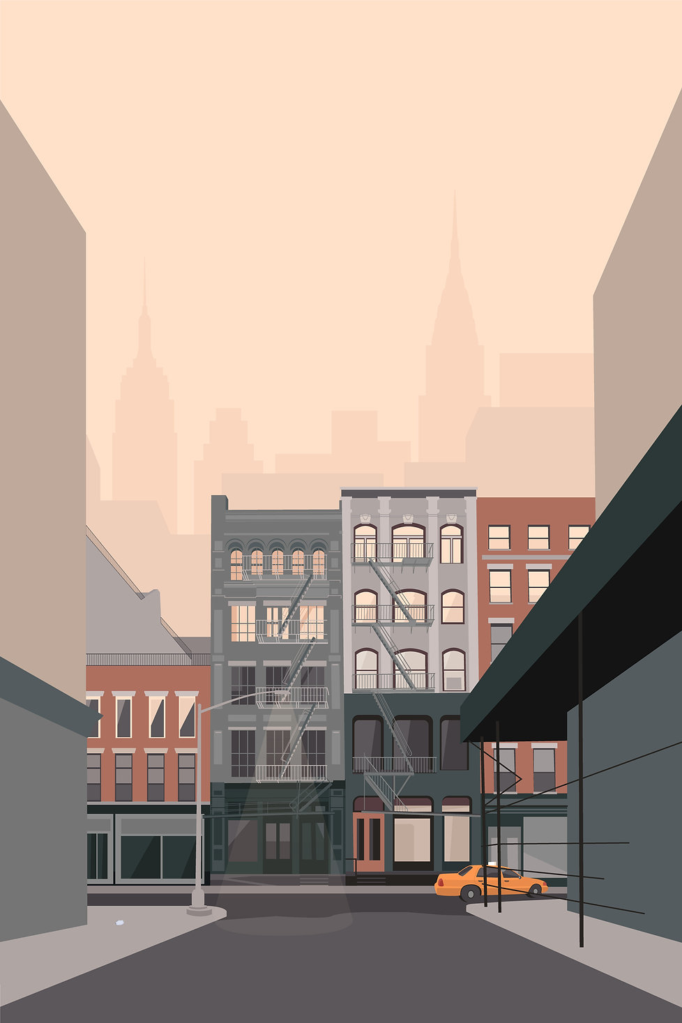 Digital Illustration New York City