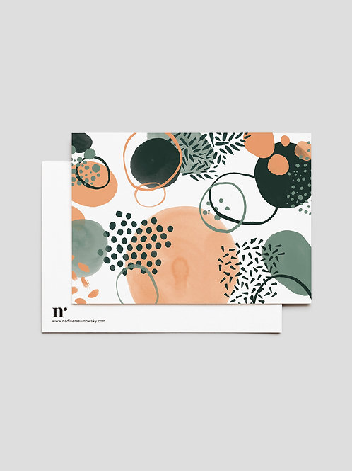 A6 Greetingcard: The Happy Pattern