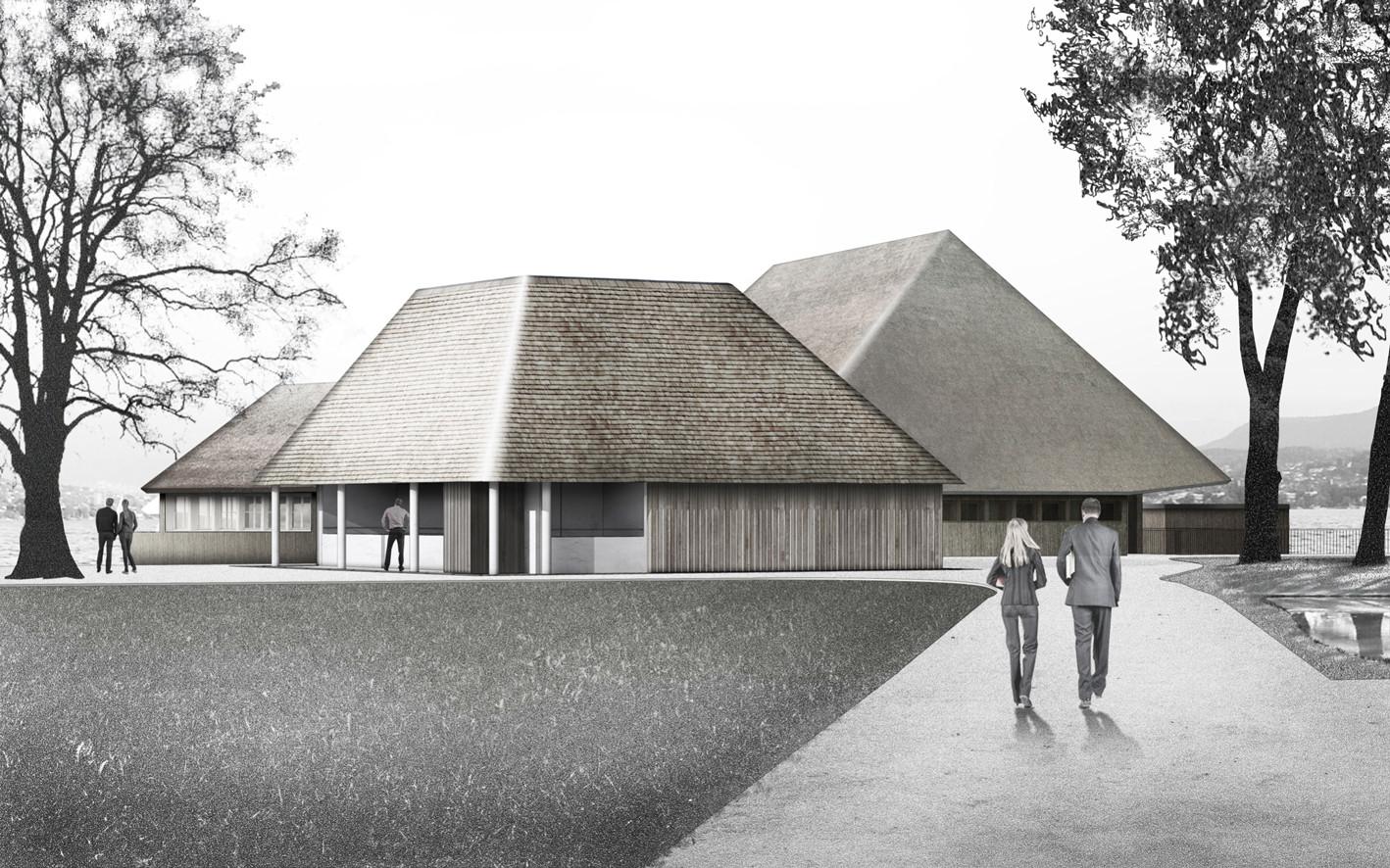 Visualisierung Fischerkiosk © Architekturbüro Patrick Thurston – Neubau 2021