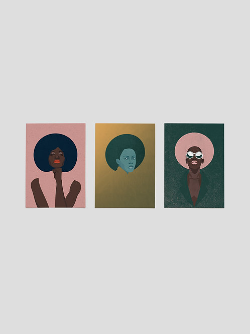 A6 Greetingcards: Women Trilogy