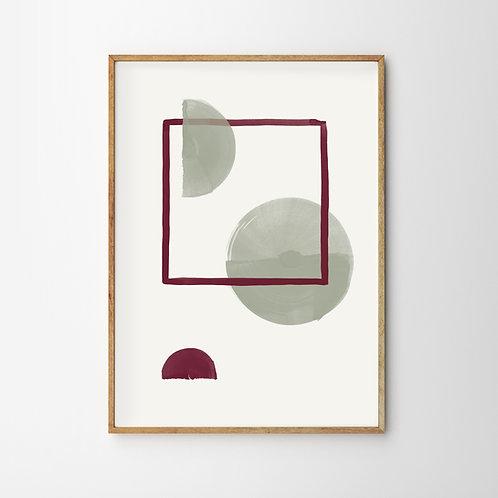 Artprint – Geometric Full Moon