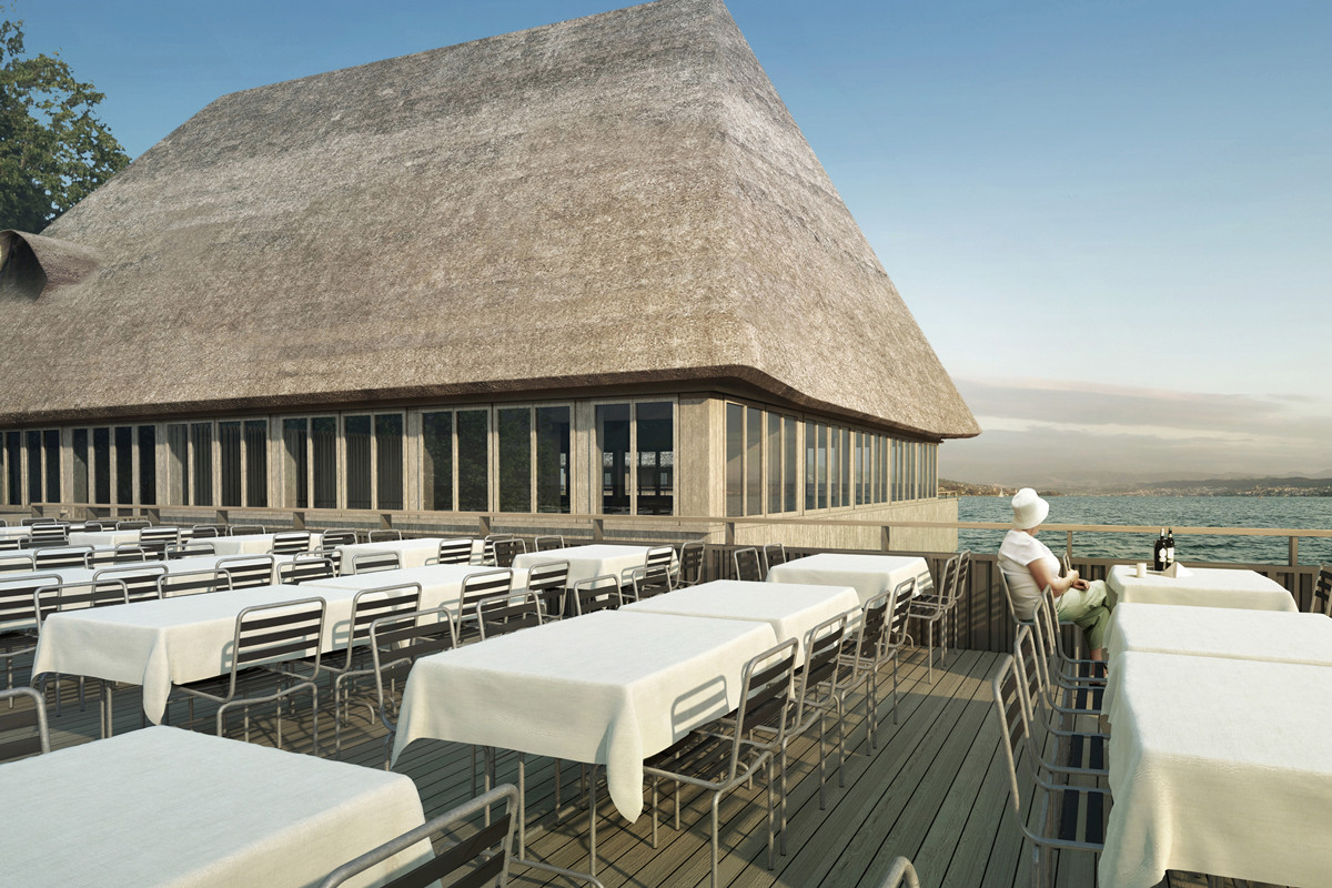 Visualisierung Seeterrasse © Architekturbüro Patrick Thurston – Neubau 2021
