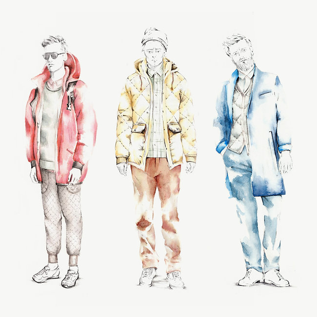 Fashion Illustration The North Face