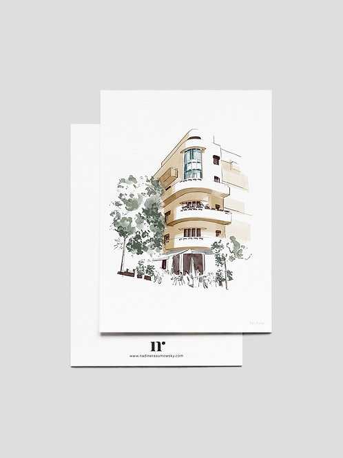 A6 Greetingcard: TLV