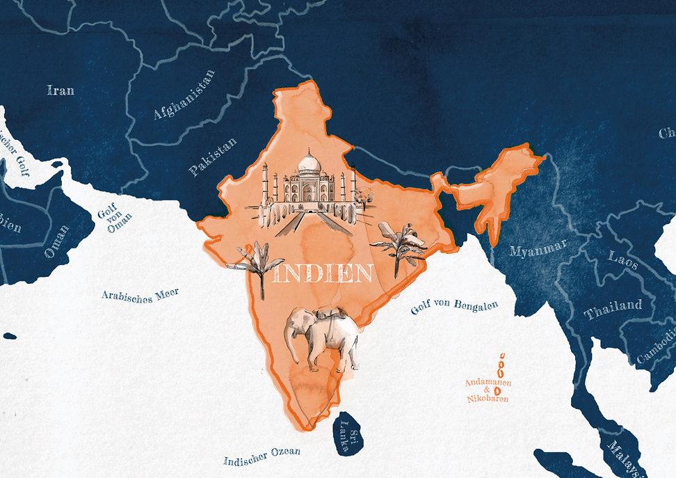 Watercolor Illustration India